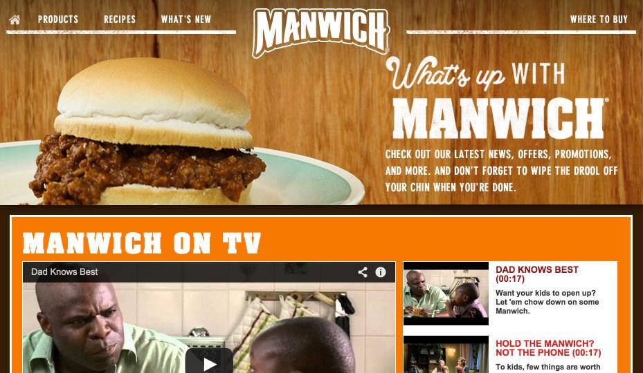 manwich website copy