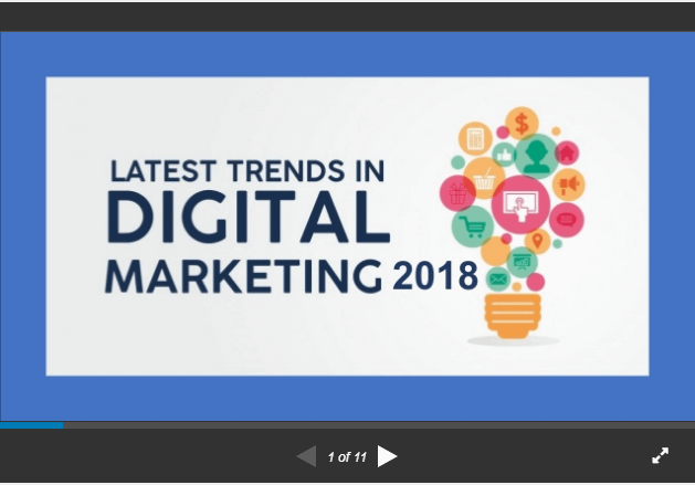 digital marketing trends 2018 slideshare