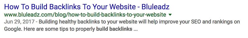 bluleadz backlinks meta description