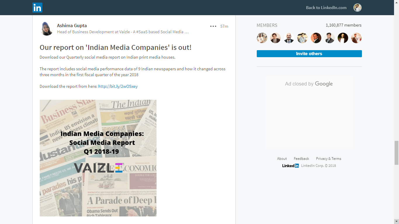 share content in groups
