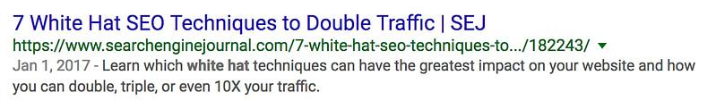 seo whitehat meta description